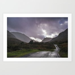 A bit of a dirty day at the Gap of Dunloe Art Print