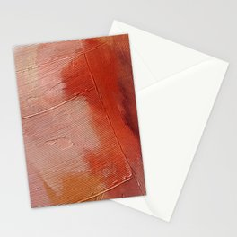 Desert Journey [1]: a textured, abstract piece in pinks, reds, and white by Alyssa Hamilton Art Stationery Cards