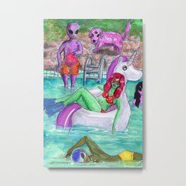 my unicorn life Metal Print