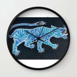 Tiger Blue Wall Clock