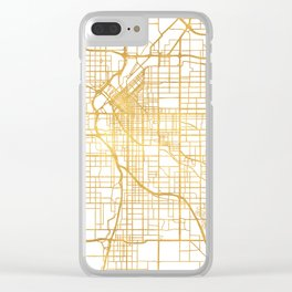 DENVER COLORADO CITY STREET MAP ART Clear iPhone Case