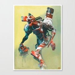 Robot X Robot Canvas Print