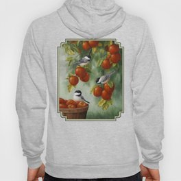 Chickadees and Apple Tree Harvest Hoody