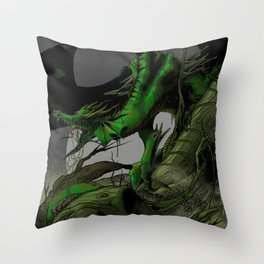 Dungeons, Dice and Dragons, Green Dragon Throw Pillow