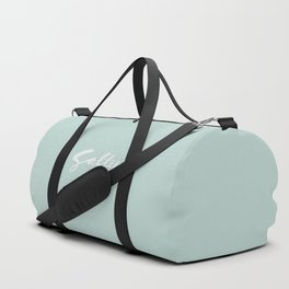 Salty Hand Lettering Calligraphy Duffle Bag