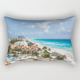 Cancun city on beachside Rectangular Pillow