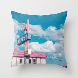 Astro Motel Throw Pillow