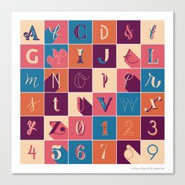 36 Days Of Type Canvas Print