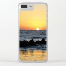Folly Beach Sunrise Clear iPhone Case