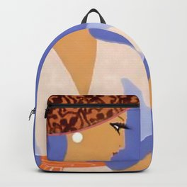 """Art Deco Illustration """"The Curtain"""" Backpack"""