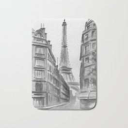 Black and white Paris. Bath Mat