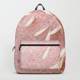 Blush Pink Plant Backpack
