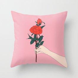 Brin de roses Throw Pillow