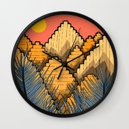 Pyramid Mountains Wall Clock