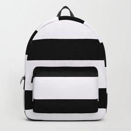 Black & White Horizontal Think Stripes Backpack
