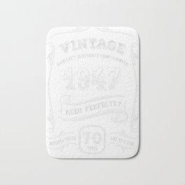 Vintage-1947---70th-Birthday-Gift-Idea Bath Mat