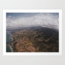 Skydiving Over Oahu Art Print