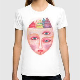 girl with the most beautiful eyes mask portrait T-shirt