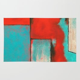 The Corners of My Mind, Abstract Painting Rug
