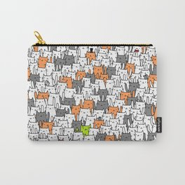 Bunny among cats Carry-All Pouch