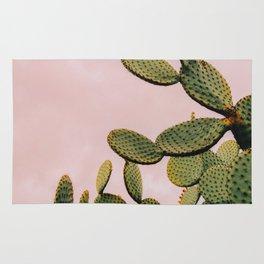 Cactus on Pink Sky Rug