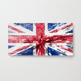 Extruded Flag of the United Kingdom Metal Print
