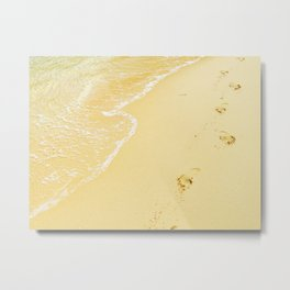 Sandy Feet Metal Print