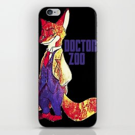 """Doctor Zoo: """"Zootopia""""/""""Doctor Who"""" Crossover iPhone Skin"""