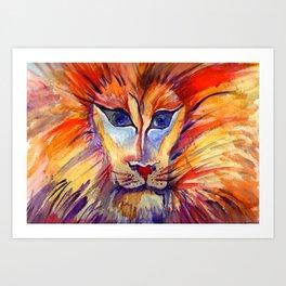 Furrowed like a Lioness Art Print