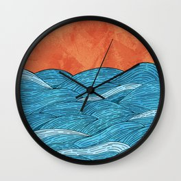 The Blue Sea Wall Clock