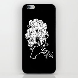 Peony Floral Bouquet iPhone Skin