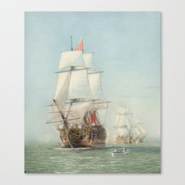 Vintage Ship Art Canvas Print
