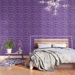 Violet Camouflage pattern Wallpaper