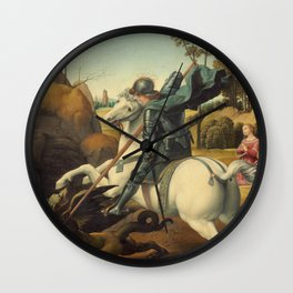 Saint George and the Dragon Wall Clock
