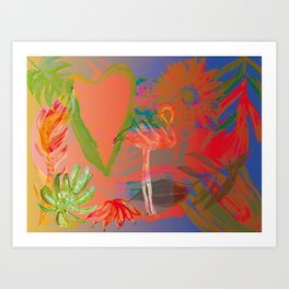 Tropicalis Brazil Art Print