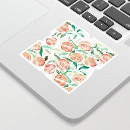 Watercolor Peaches Sticker