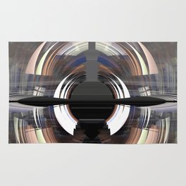 Tunnel vision, modern fractal abstract art Rug