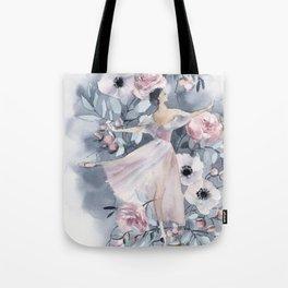 Ballerina and flowers n.4 Tote Bag