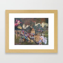 Flatsy! Be careful. Framed Art Print