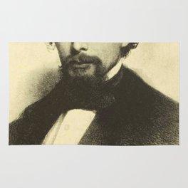 Vintage Charles Dickens Portrait Rug
