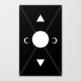 minimalist tarot deck Canvas Print