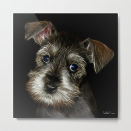 schnauzer dog pop art Metal Print