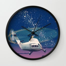 Helicopter flight Wall Clock