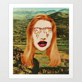 Pizza Face Art Print
