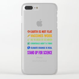 Earth is not flat Clear iPhone Case