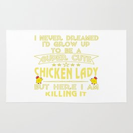Super cute Chicken lady Rug