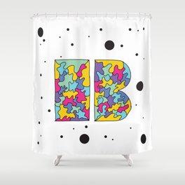 Letter B Shower Curtain