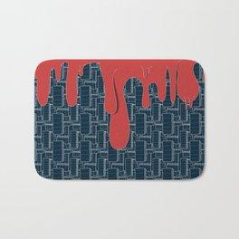 Drips (navy) Bath Mat