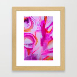 Hot Pink Pineapples Framed Art Print