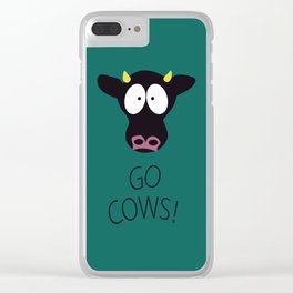 Go Cows Poster Clear iPhone Case
